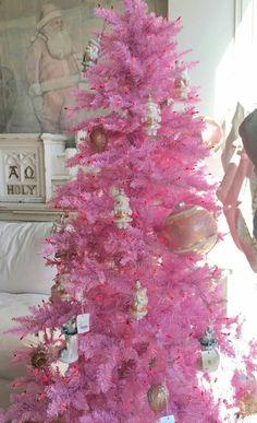 Rosa Weihnachtsbaum.Die 116 Besten Bilder Von Rachel Ashwell Christmas In 2018 Vintage