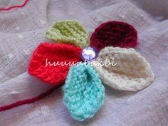 haroşa örgüyle çiçek yapımı,knit flower