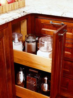 Store small appliances in a pullout drawer