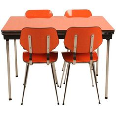 brabantia: #orange kitchen table set #vintage