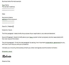 business letter format examples cover kbsulkqr - Business Cover Letter Format