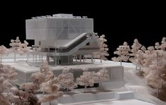 © la rotta arquitectos + arquitectura (model) - faculty of arts PUJ - bogota, colombia - 2011 Cultural Architecture, Concept Architecture, Architecture Drawings, Architecture Design, Architecture Models, Model Tree, 3d Modelle, Arch Model, Modelos 3d