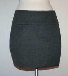Organic by John Patrick for Ron Herman Gray Wool Mini Skirt Sz 4 New w Tags $320 #OrganicbyJohnPatrick #Mini