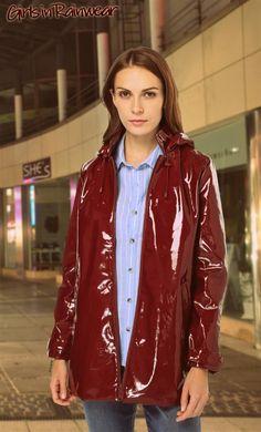 Red Raincoat, Vinyl Raincoat, Rain Wear, Unisex, Bomber Jacket, Leather Jacket, Sexy, Latex, How To Wear