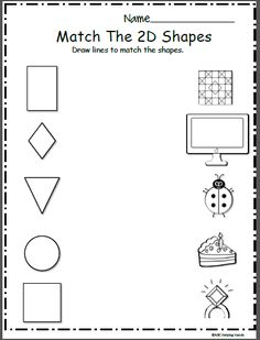 Pre-K Math Shapes Worksheets. Shapes worksheets for pre-k