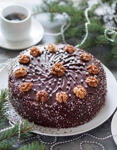 Австрійський Різдвяний горіховий торт Hungarian Cake, Russian Desserts, Torte Cake, Ukrainian Recipes, Cooking Cake, Food Cakes, How Sweet Eats, Let Them Eat Cake, Cake Cookies