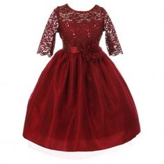 Good Girl Little Girls Burgundy Sequin Adorned Lace Christmas Dress Girls Dress Shoes, Little Girl Dresses, Dress Outfits, Girls Dresses, Flower Girl Dresses, Flower Girls, Dress Girl, Kids Outfits, Burgundy Dress Outfit