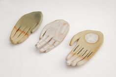 ceramic hands by kaye blegvad