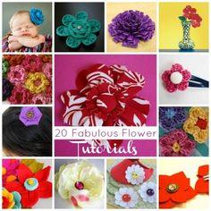 20 Fabulous Flower tutorials