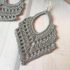 ONE Crochet Earrings Pattern, Crochet Earring Pattern, PDF File - Crochet dangle earrings - PDF pattern for beginners, crochet earrings Buying this item Crochet Jewelry Patterns, Crochet Earrings Pattern, Crochet Motifs, Crochet Accessories, Crochet Stitches, Crochet Hooks, Knit Crochet, Crochet Circle Pattern, Crochet Cape