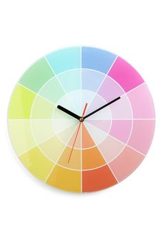 Color swatch clock. Reminds me when I would go to the paint store with my mom and bring home all the color samples because I thought they were so pretty.