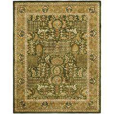 $333 Safavieh Handmade Classic Light Green/ Gold Wool Rug (8'3 x 11')