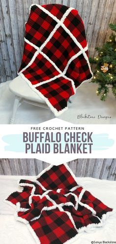 How to Crochet Buffalo Check Plaid Blanket Advertisements P. How to Crochet Buffalo Check Plaid Blanket Advertisements Plaid is such a time Crochet Afghans, Crochet Motifs, Crochet Stitches, Crochet Blankets, Cross Stitches, Knitted Shawls, Plaid Crochet, Cute Crochet, Crochet Baby