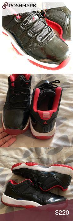 """01d9c291ec7d Air Jordan 11 """"Bred Low"""" Authentic Air Jordan 11 Low Bred Size  6Y"""