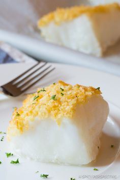 Heavenly Salt and Vinegar Potato Chip Crusted Baked Sea Bass Recipe (Healthy Fish and Chips!) | ASpicyPerspective.com