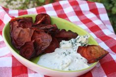 When you're craving chips, check out this recipe for baked beet chips.