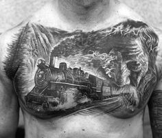 40 awesome steam train tattoo images ink pinterest for Crazy train tattoos