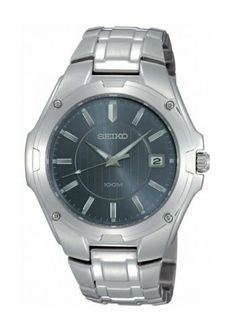 Seiko Mens Seiko Watch with Blue Dial SGEE59P1 Seiko. $158.05. Date Window