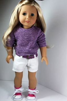 American Girl Doll Clothes White Shorts by sewurbandesigns on Etsy