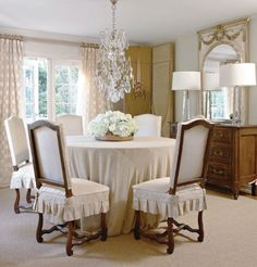 Delicieux Dining Room From Country French Magazine Cushioned Seat Covers French  Country Dining Room, French Country