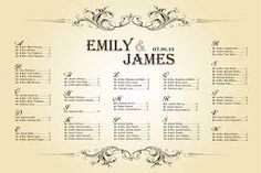 Image result for wedding seating plan chart