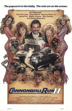 "Cannonball Run II 1984 Authentic 27"" x 41"" Original Movie Poster Fine, Very Fine Burt Reynolds Comedy U.S. One Sheet"