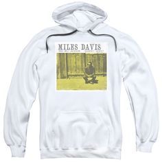 CONCORD MUSIC/MILES AND MILT-ADULT PULL-OVER HOODIE-WHITE