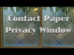 This is a guide about privacy window using contact paper. You can create a sense of privacy without adding shades or curtains to a window.