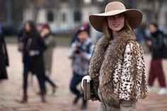 fall fur clothes for fall/winter 2014 | street-style-2013-2014-fall-winter-fashion-week-leopard-print-fur ...