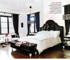 Beautiful Black and White Bedroom