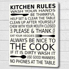 Kitchen Rules Wall Art Box Canvas - White - A3 12x16 inch Cheryl Monaghan http://www.amazon.co.uk/dp/B00VQCCQJE/ref=cm_sw_r_pi_dp_bIOlvb18HG1C0