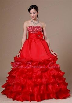 Nice red ball gown prom dresses 2017-2018