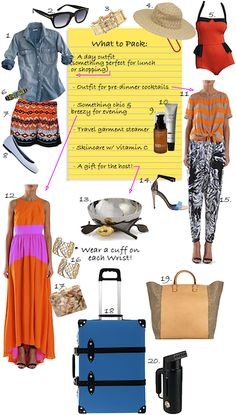 Check out the lovely Olivia Palermo's recommendations on what to pack for the long Memorial Day weekend!