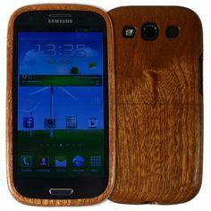 Dřevěný kryt Samsung Galaxy S3 za sapelového (mahagonového) dřeva
