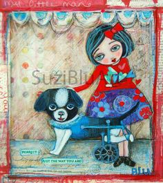 Print Finney Perfect Just the Way You Are  Mixed Media by SuziBlu, $15.00