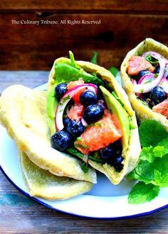 Blueberry Salad Pita Sandwich – vegan