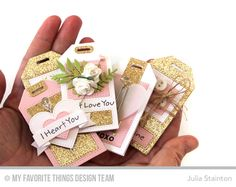 Handful of Hearts Valentine Tags by Julia Stainton