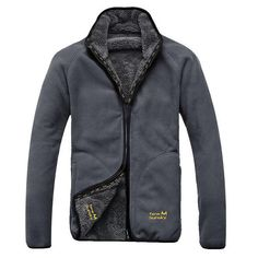 Mens Polar Fleece Reversible Thick Warm Winter Jacket