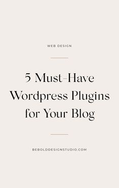 The right use of plugins can enhance your WordPress site to bring in more traffic, keep it secure and make edits much easier.  #wordpress #plugins #sidehustle #blogging #webdesign #creative #ideas