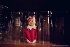 Elf on the Shelf placement ideas!   (Get your own Elf on the Shelf @ RPS - www.rockpaperscissorsshop.com)