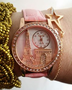 Paris in springtime wrist watch