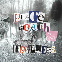 peace, health and happiness mon man tai Christmas Diy, Christmas Cards, Photo Pattern, Cut And Paste, Creative Memories, Grafik Design, Letters And Numbers, Merry And Bright, Scrapbook Pages