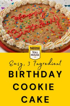 Nestle Toll House Cookie Cake Recipe, Nestle Chocolate Chip Cookies, Cookie Dough Cake, Cookie Pizza, Cookie Cakes, Big Cookie, Easy Cake Recipes, Cookie Recipes, Cookie Cake Designs
