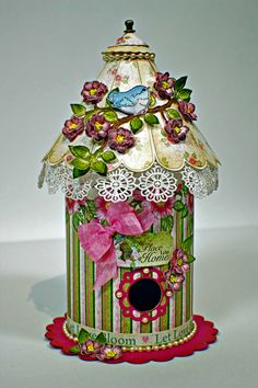 Gorgeous Birdhouse #papercraft from the Birds and Bloom Collection. See the full range at Create & #Craft - http://www.createandcraft.tv/SearchGridView.aspx?fh_location=//CreateAndCraft/en_GB/$s=heartfelt%20creations%20birds%20and%20blooms&gs=heartfelt%20creations%20birds%20and%20blooms