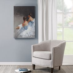 Dance with Me is a beautiful canvas piece that features two ballerina dancers…
