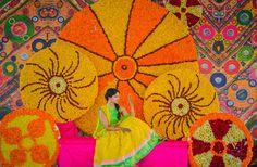 Designer Lehenga for Bride to get your outfit customized Contact Us WhatsApp/Call 9059019000 Wedding Stage, Wedding Photoshoot, Wedding Events, Wedding Venue Decorations, Flower Decorations, Funny Photo Booth, Bridal Mehndi, Mehendi, Mehndi Decor