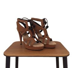Filippa K High Heel Sandals in Tanned Suede Size 36