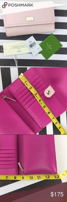 "Winnie Arbour Hill Clutch/Cross-body Handbag Pink JUST ARRIVED!  BRAND NEW FOR HOLIDAY 2016! Kate Spade ♠️Wallet / Clutch / Crossbody - Tri-Fold  👛 . Color: Light pink / hot pink when opened  Measurements: 13"" when fully opened. 7"" wide Detachable strap 24"" drop CONDITION: New w/ tags - no known damage on bag  Arrives well wrapped with original paperwork and tags.  ❌Trades❌ ⚡️We ship lightening fast⚡️ 🎀Discounts with bundles 🎀 kate spade Bags Clutches & Wristlets"