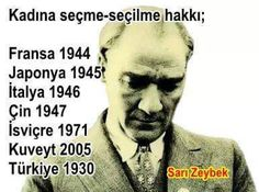 history of women's suffrage Turkish People, Whatsapp Message, Great Leaders, World Leaders, Morals, Love Of My Life, Life Lessons, Knowledge, Photo And Video