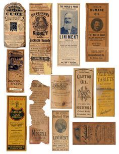 Don't know if anyone could use these..I just made 3 full sheets of real vintage medicine bottle labels, like these.. They may need sized for a bottle, but thats easy just to shrink the page down...all 3 are on my pinterest page, where you can just right click, save and printhttp://pinterest.com/pin/262053272040521945/
